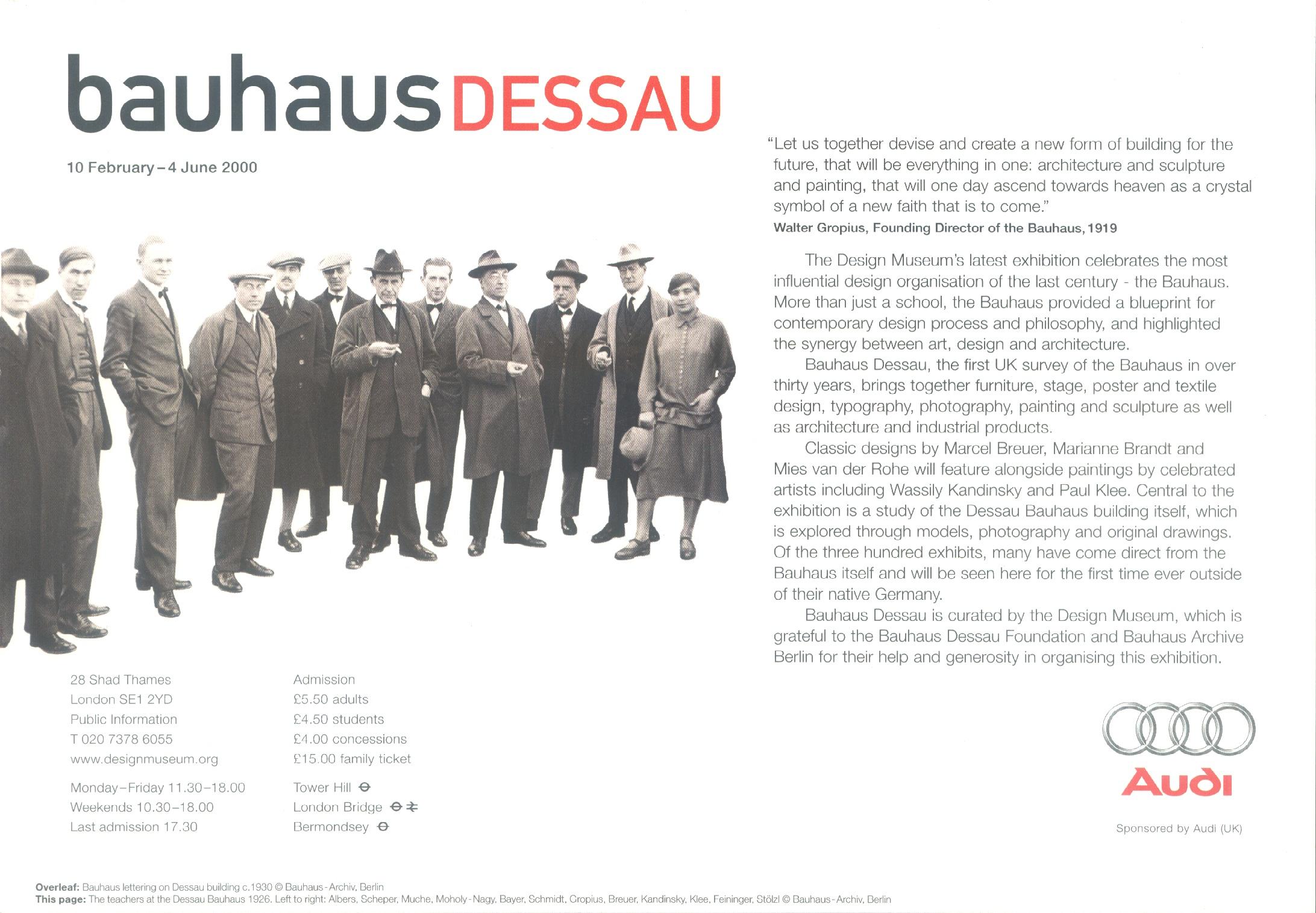הבאוהאוס: אמנות המופע
